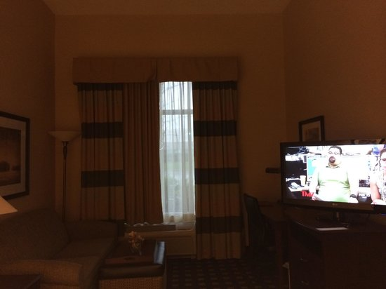 Homewood Suites by Hilton Toronto Airport Corporate Centre: The TV room off of the kitchen and bedroom.