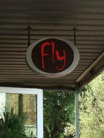 Fly Bar & Restaurant: Restaurant sign