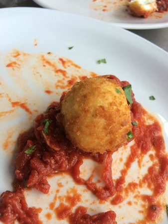 Fly Bar & Restaurant: Panko Crusted Goat Cheese with marinara - Sorry we couldn't wait for a photo!