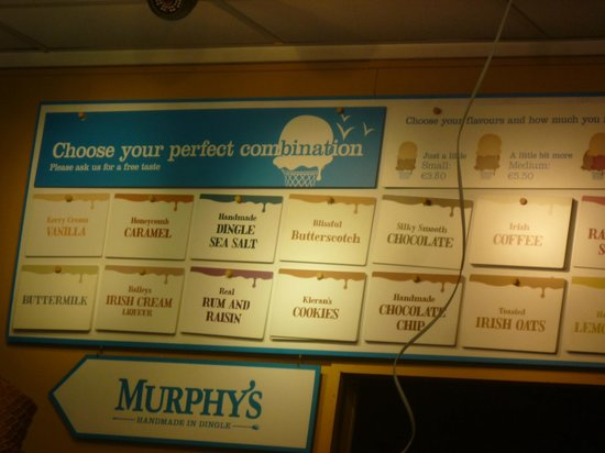 Murphys Ice Cream : Flavors