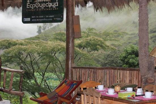 Eco Quechua Lodge: Breakfast in the Diningroom
