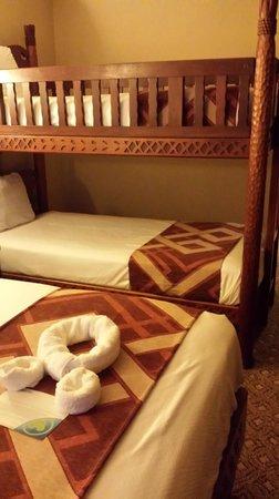 Disney's Animal Kingdom Lodge: Standard room with bunk beds