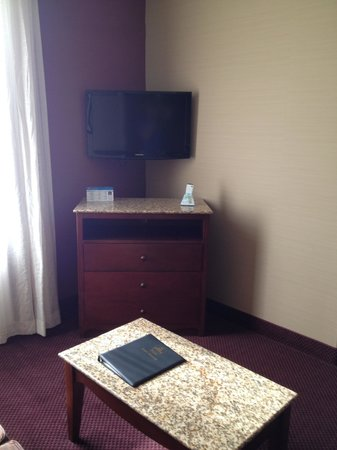 Best Western Plus Hannaford Inn & Suites: TV #2, this one is located in living area, there is another one in the bedroom.