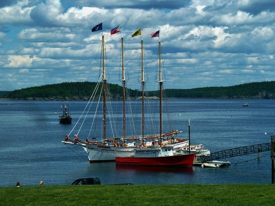 Sight seeing boat picture of frenchman bay bar harbor for Schooner bay motor inn
