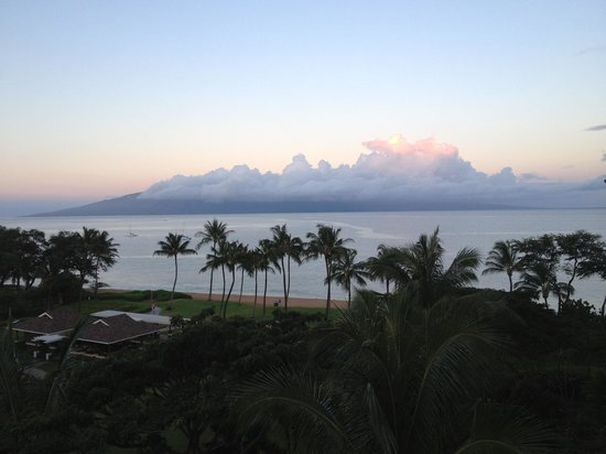 View from balcony at the Westin Kaanapali ocean resort villas April 2014