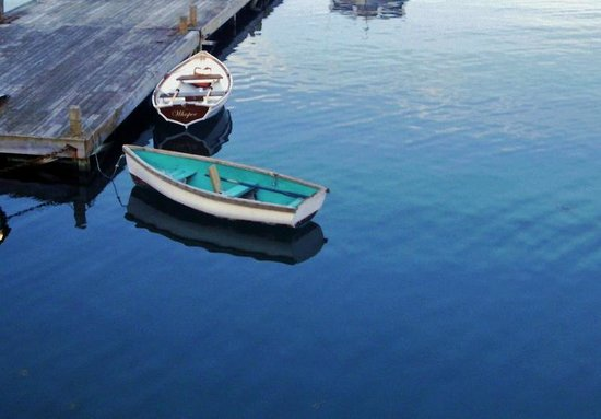 Agamont Park: Tenders for boats moored in the bay
