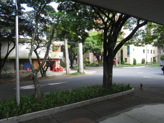 Asturias Hotel Medellin : across the street