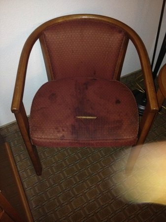 Econo Lodge: Disgusting chair in my room.  It had a twin,