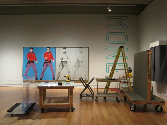 The AGO, Art Gallery of Ontario: Art and Therapy exhibition under construction