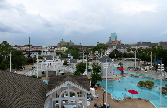 View from our lagoon view room on the 5th floor picture for Garden view rooms at disney beach club