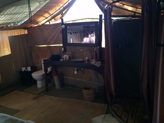 Dunia Camp, Asilia Africa: the bathroom - not usually a photo to take on holiday but this is pretty cool for a tent.