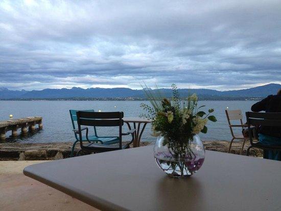Restaurant de la plage: Restauration très soignée avec produits de grande qualité, au bord du lac Léman, prix raisonnabl