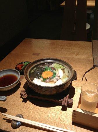 Soba Ogata : 湯豆腐(これで一人前!)