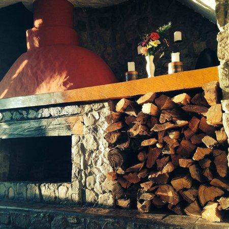 Refugio Vinak: chimenea