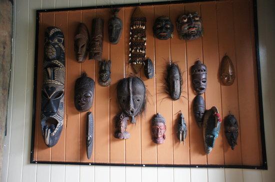 Colo I Suva Rainforest Eco Resort: Fijian Mask Carvings