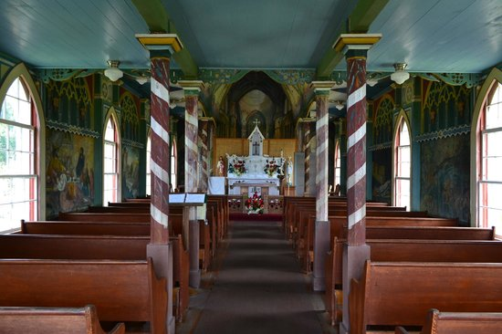 The Painted Church: Church interior from entrance