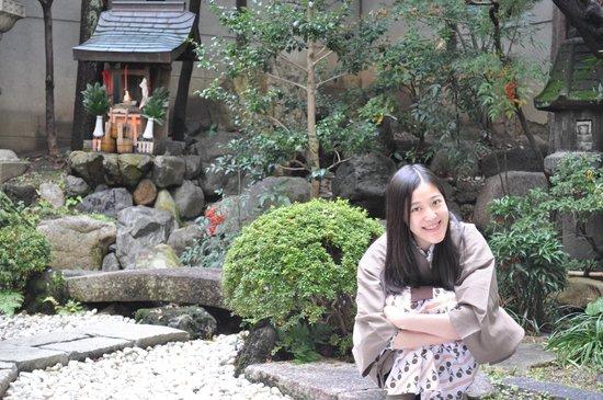 Nishiyama Ryokan: 小花園