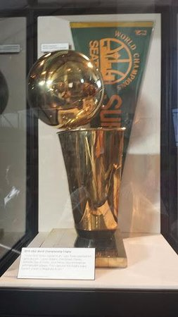 Museum of History & Industry: Seattle's NBA trophy is on display here.