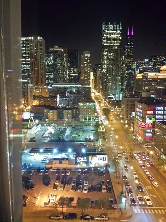 The Frey Hotel Chicago Night View From Room