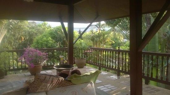 Ban Kaew Villas: Our verandah - a small corner of it actually.