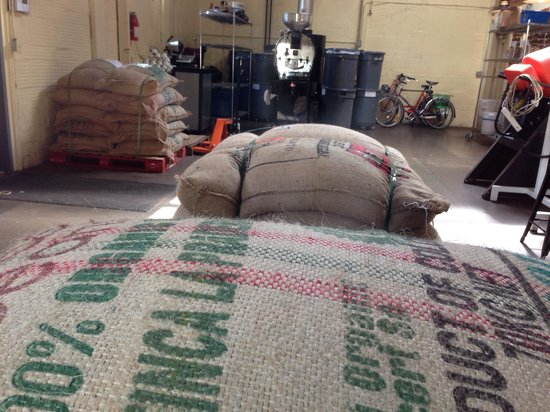 Olympia Coffee Roasting Co.: Bags full of coffee beans