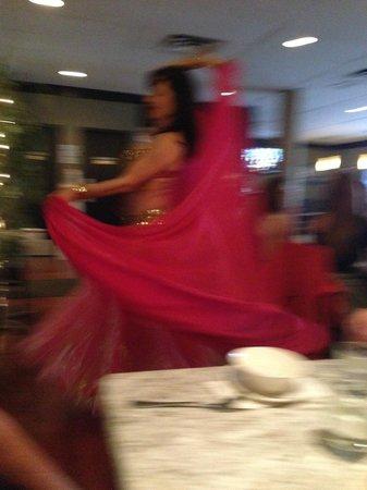 Calypso's Taverna: Bellydancing twirl