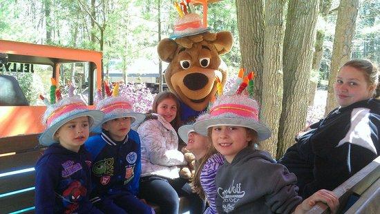 Yogi Bear's Jellystone Park Camp-Resort at Tall Pines : BooBoo Birthday Party Train Ride