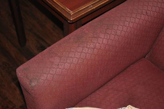 Red Roof Inns & Suites Savannah Airport Pooler: The nasty, stained couch