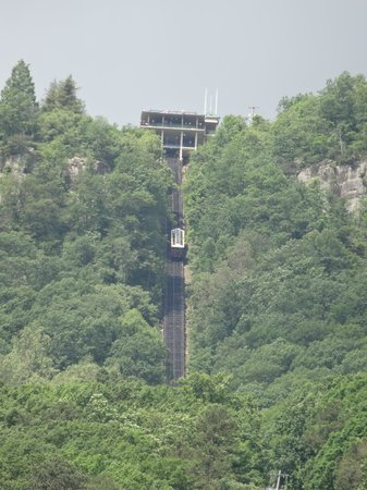 The Lookout Mountain Incline Railway: the top station