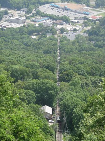 The Lookout Mountain Incline Railway: view from the top!