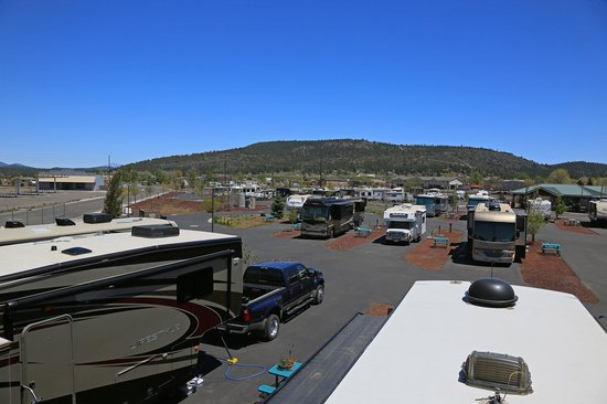 Grand Canyon Railway RV Park: Up on the roof 3