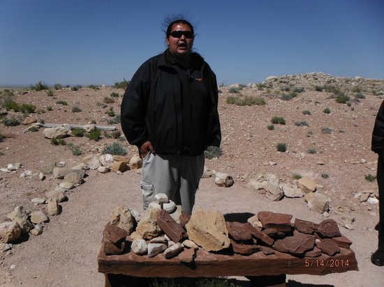 Meteor Crater: Our tour guide Stephen
