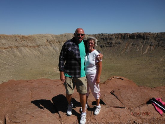 Meteor Crater: Us at the crater