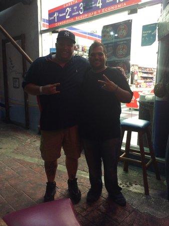 The Surfin Burrito : Me alongside Eddie.