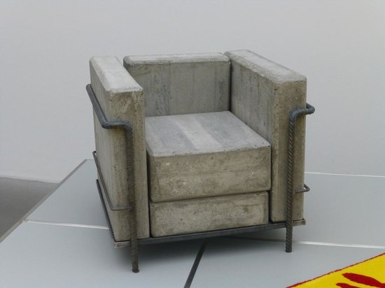 Neues Museum : Concrete Chair by Stefan Zwicky