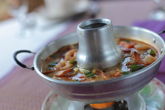 Madame Butterfly : Tom Yam Soup with Shrimp