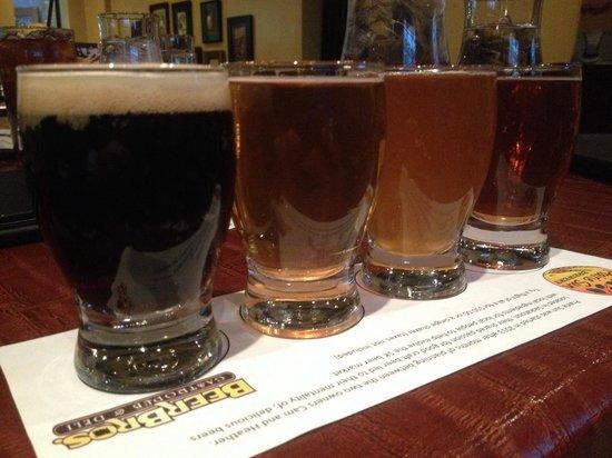 Beer Bros: Sample tray of ales...lush!!