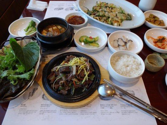 Gyeongju Kolon Hotel: 大衆食堂「鶏林」の食事