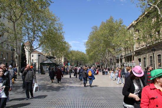 Las Ramblas: taking a stroll