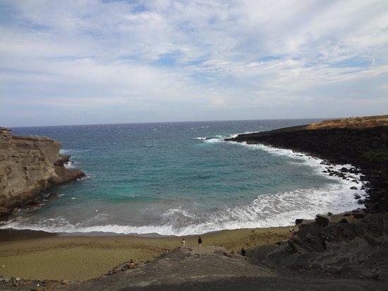 South Point (Ka Lae) y playa Papakolea: green sand beach