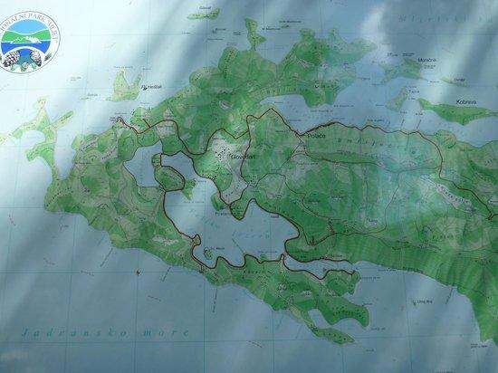 Mljet Island, Kroasia: 地図
