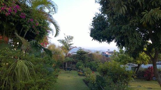 Shangri-La Village Pokhara: View of Hotel garden from room