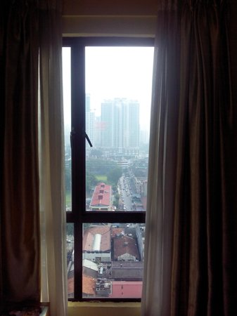 Hotel Sentral: view from 14th floor