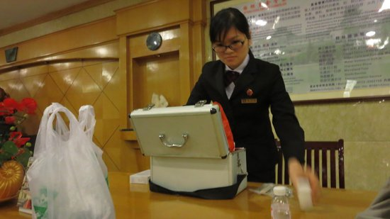 Guilin Park Hotel: The Manager who gave me a first aid kit for my scraped shins.