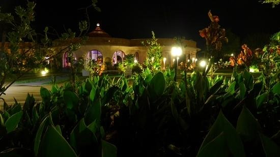 Tree of Life Resort & Spa Jaipur : An evening walk around the restaurant area.