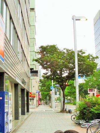 Toyoko Inn Nagoya Sakae: When you turn left toward the 7-11
