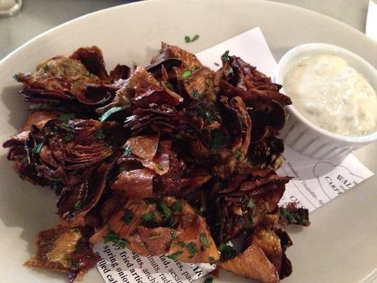 The Walrus and the Carpenter: fried artichokes $12