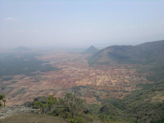 Ramakkal: aeroplane view of cumbum and theni