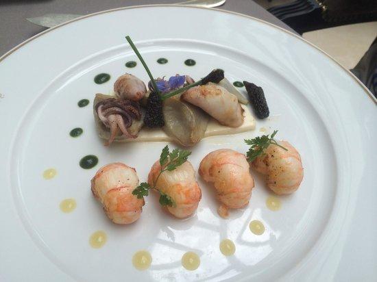 Les Jardins d'Épicure : plat poisson