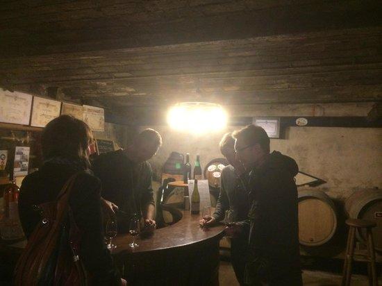 Julienas, France : Dégustation conviviale
